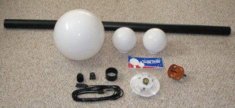 The Parts to make a Mickey Lamp Post